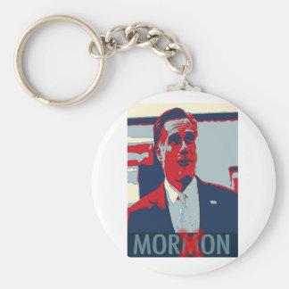 Mitt Romney el Imbécil mormón Llavero Redondo Tipo Pin