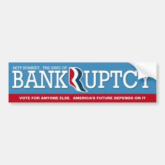 Mitt Romney - el rey de Bankrupcty Pegatina De Parachoque