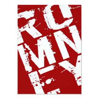"""Mitt Romney - elección 2012 Invitación 5"""" X 7"""""""