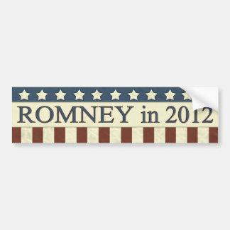 Mitt Romney en 2012 Pegatina Para Auto