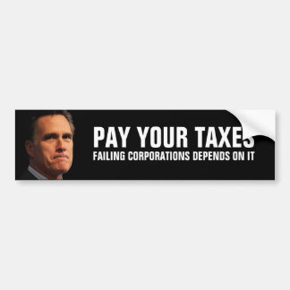 Mitt Romney en la redistribución de riqueza Pegatina Para Auto