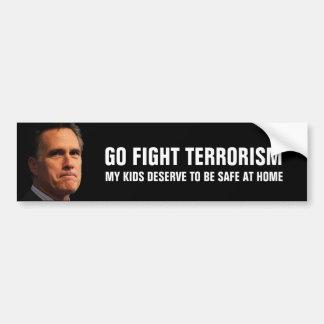 Mitt Romney en terrorismo que lucha Pegatina Para Auto