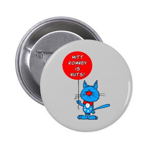 ¡Mitt Romney es nuts! Pin