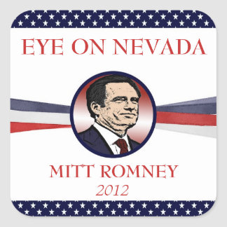 Mitt Romney Eye on Nevada 2012 Stickers