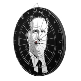 Mitt Romney Face Dartboard With Darts