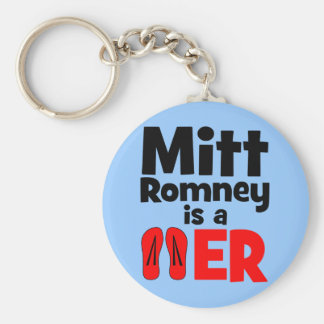 Mitt Romney flip flopper Keychain