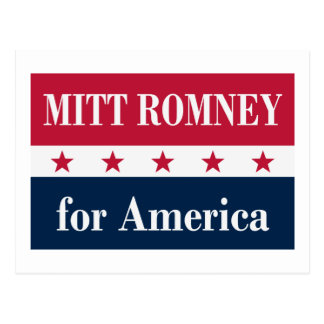 Mitt Romney for America Postcard