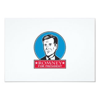 Mitt Romney For American President 3.5x5 Paper Invitation Card