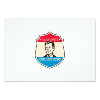 Mitt Romney For American President Shield 3.5x5 Paper Invitation Card