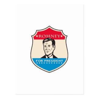 Mitt Romney For American President Shield Postcards