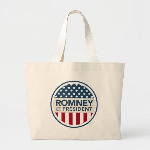 Mitt Romney For President 2012 (Flag Style) Jumbo Tote Bag
