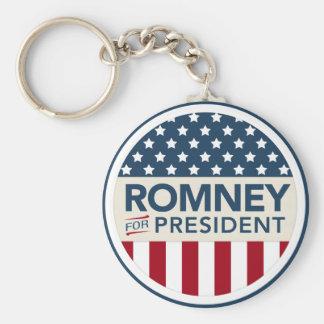 Mitt Romney For President 2012 (Flag Style) Keychain
