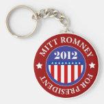 Mitt Romney for President 2012 Basic Round Button Keychain