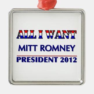 Mitt Romney For President 2012 Metal Ornament