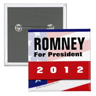 Mitt Romney for President 2012 Patriotic Lapel Pin