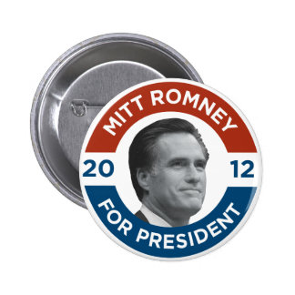Mitt Romney For President 2012 Pinback Button