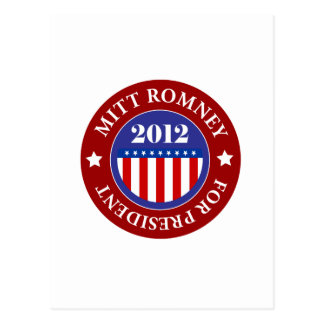 Mitt Romney for President 2012 Postcard