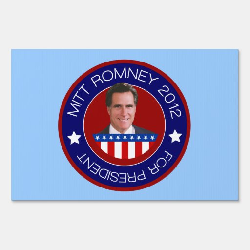 Mitt Romney for President 2012 Yard Signs