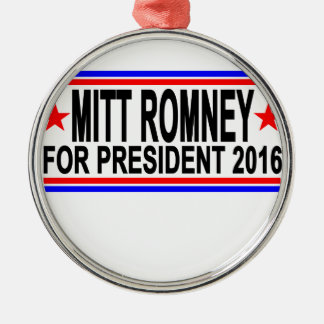 MITT ROMNEY FOR PRESIDENT 2016 Tee Shirts.png Metal Ornament