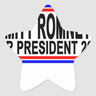 MITT ROMNEY FOR PRESIDENT 2016 Tee Shirts.png Star Sticker