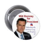 Mitt Romney for President 2 Inch Round Button