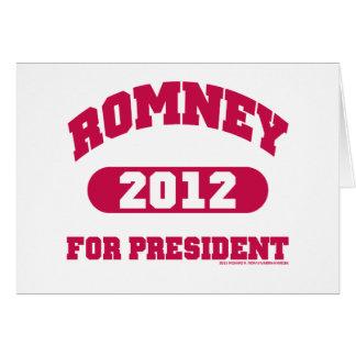 Mitt Romney for President Card