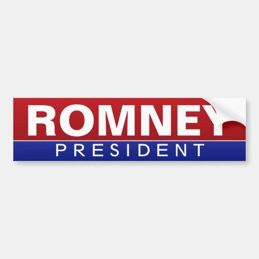 Mitt Romney for President - Classic Design Bumper Stickers