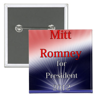 Mitt Romney For President Dulled Explosion 2 Inch Square Button