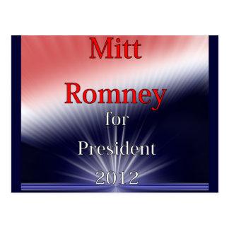 Mitt Romney For President Dulled Explosion Postcard