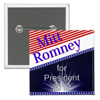 Mitt Romney For President Explosion 2 Inch Square Button