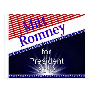 Mitt Romney For President Explosion Postcard