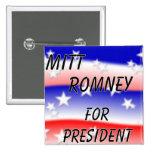 Mitt Romney For President Fading Red White And Blu Buttons