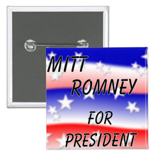 Mitt Romney For President Fading Red White And Blu 2 Inch Square Button