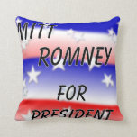 Mitt Romney For President Fading Red White And Blu Throw Pillows