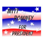 Mitt Romney For President Fading Red White And Blu Postcard