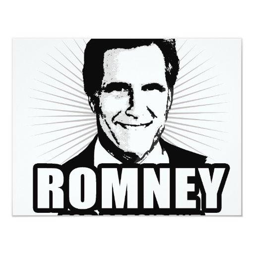 Mitt Romney for President 4.25x5.5 Paper Invitation Card