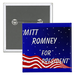Mitt Romney For President Night Sky 2 Inch Square Button