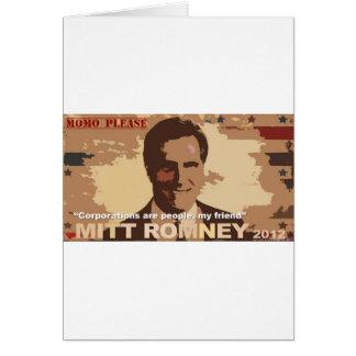 Mitt Romney For President NOT! Card