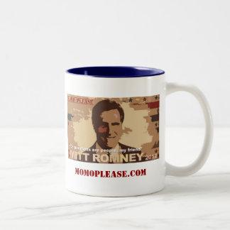 Mitt Romney For President NOT! Two-Tone Coffee Mug
