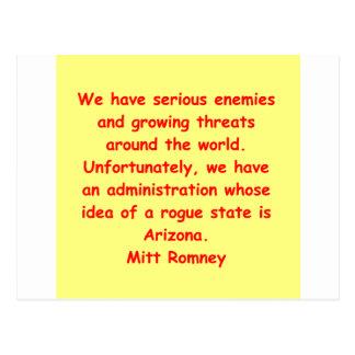 mitt romney for president postcard
