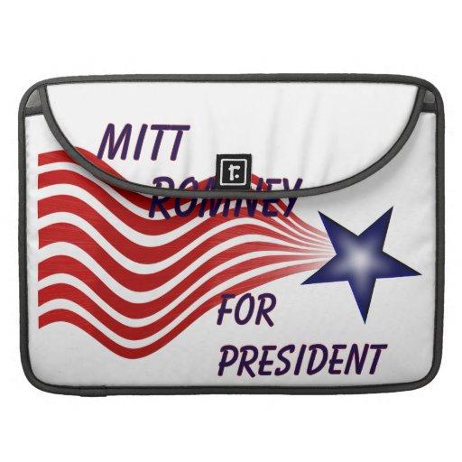 Mitt Romney For President Shooting Star Sleeve For MacBook Pro