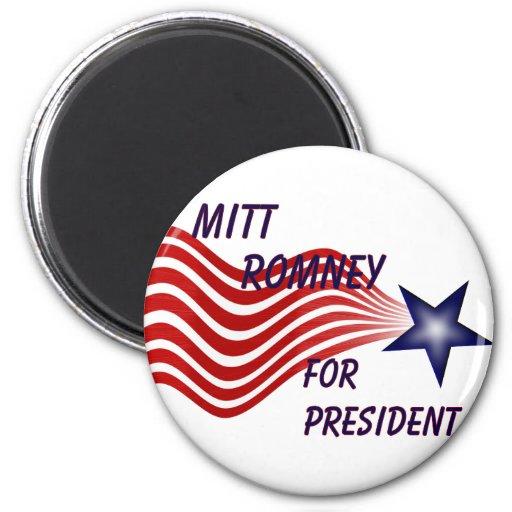 Mitt Romney For President Shooting Star 2 Inch Round Magnet