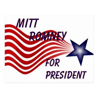 Mitt Romney For President Shooting Star Postcard
