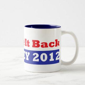 Mitt Romney for President stars and stripes Two-Tone Coffee Mug