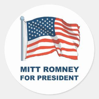 Mitt Romney for President Classic Round Sticker