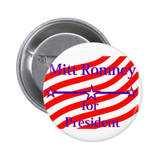 Mitt Romney For President Strips With 3 Stars And 2 Inch Round Button