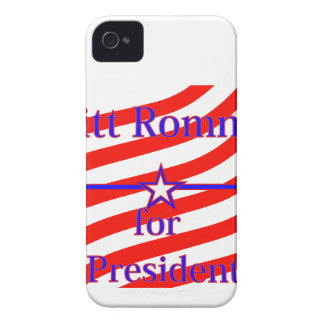 Mitt Romney For President Strips With 3 Stars And Case-Mate iPhone 4 Cases