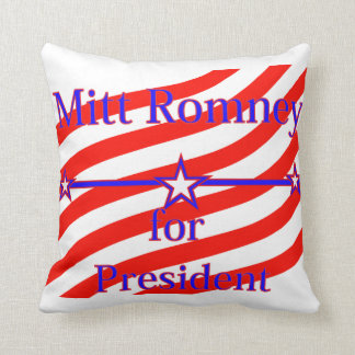 Mitt Romney For President Strips With 3 Stars And Throw Pillow