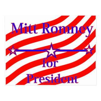 Mitt Romney For President Strips With 3 Stars And Postcard