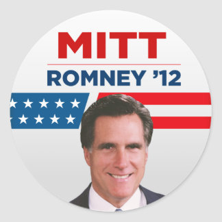 Mitt Romney for US President 2012 Classic Round Sticker
